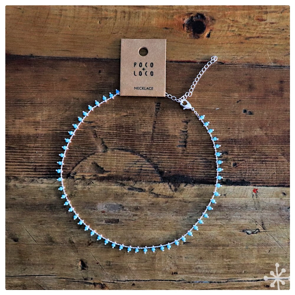 Chain Necklace Silver Turquoise