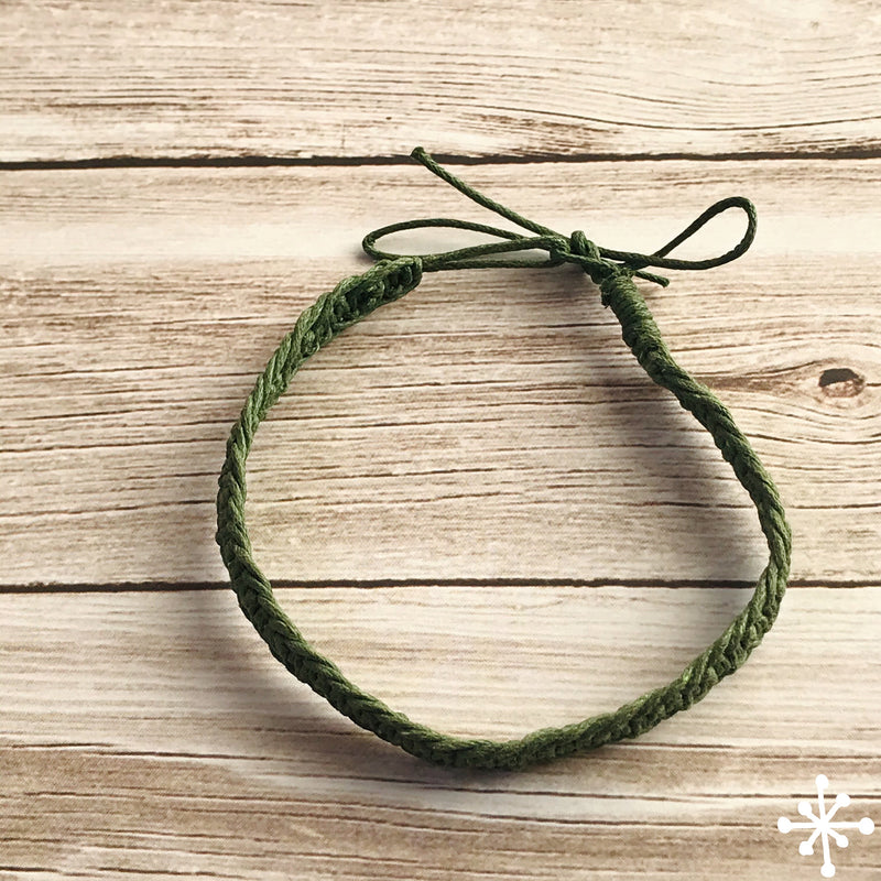 Cotton thin anklet green khaki