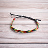 Hand plaited bracelet cotton thin rasta