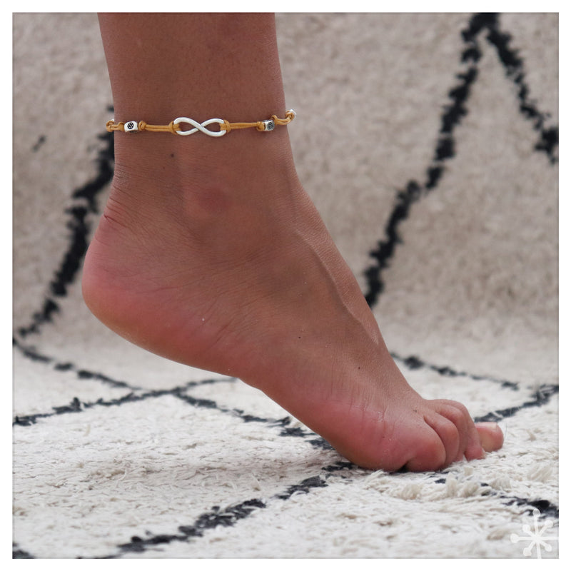 Infinity Yellow Anklet
