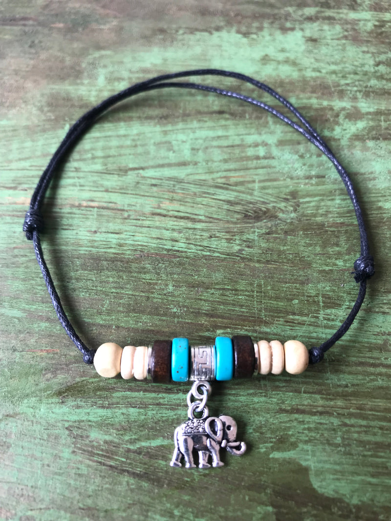 Elephant with Beads Anklet