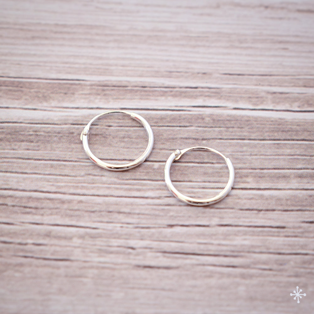 Sterling Silver Hoops plain
