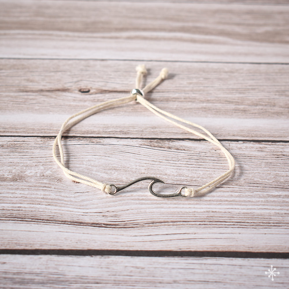 Bracelet Wave Large Cream