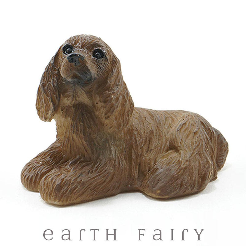 Miniature American Cocker Spaniel from The Fairy Garden Miniature Animal Collection by Earth Fairy
