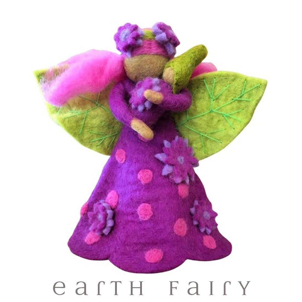 Amethyst Faerymother, Large, from The Hand Felted Wool Toy Collection by Earth Fairy