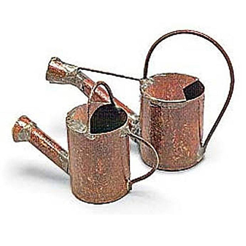 Antiqued Watering Cans - Set of Two  - Fairy Gardens - Earth Fairy