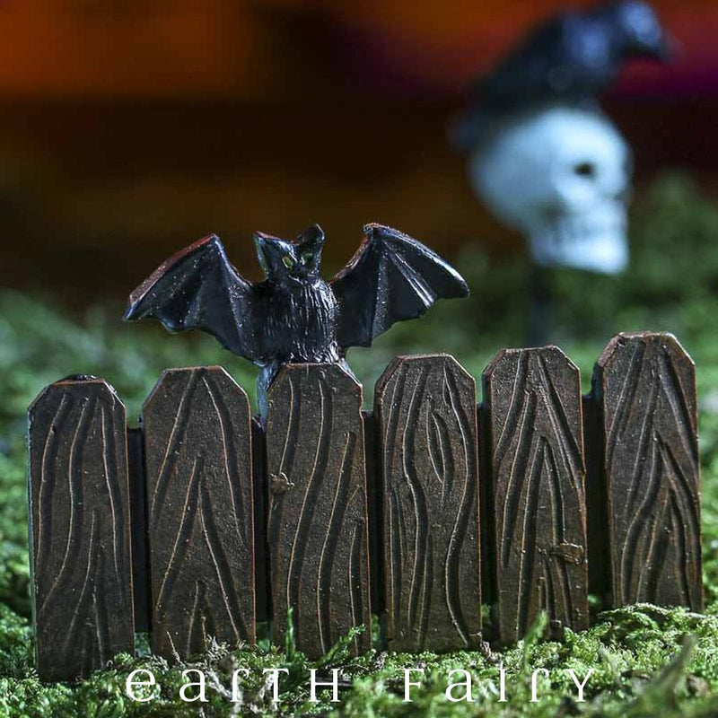Miniature Bat Fence from The Fairy Garden Miniature Halloween Collection by Earth Fairy