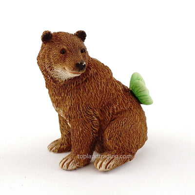 Bear with Butterfly | Fairy Garden Animals - Australia | Earth fairy