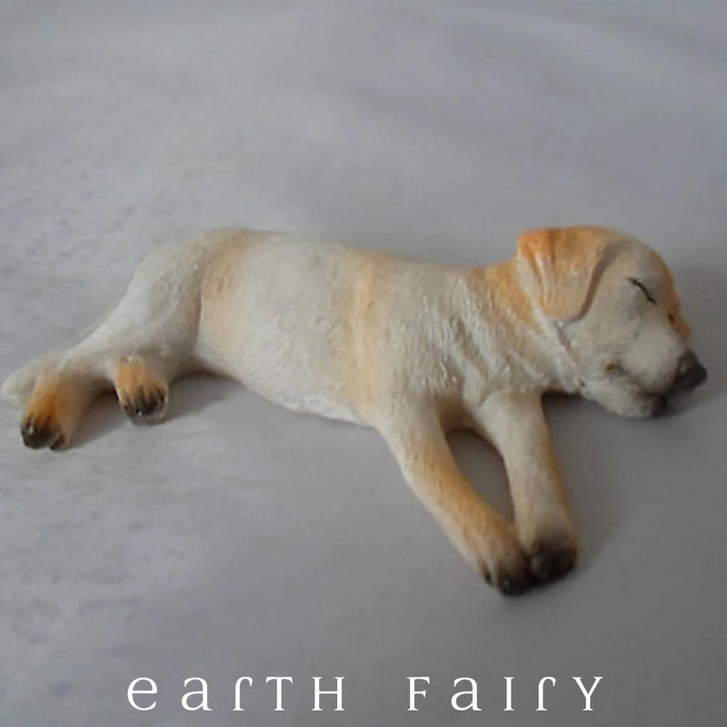 Ben the Sleepy Labrador | Fairy Garden Miniature Animals | Earth Fairy
