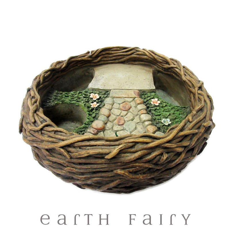 Bird Nest Planter from The Fairy Garden Landscaping Collection by Earth Fairy