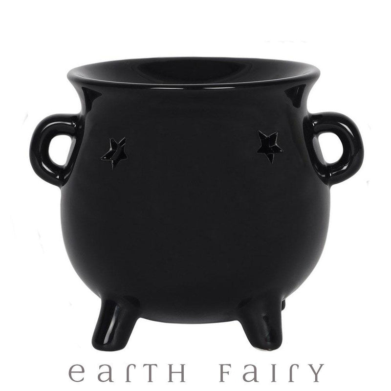 Black Ceramic Cauldron Oil Burner | Fairy Inspired Gifts & Decor | Earth Fairy