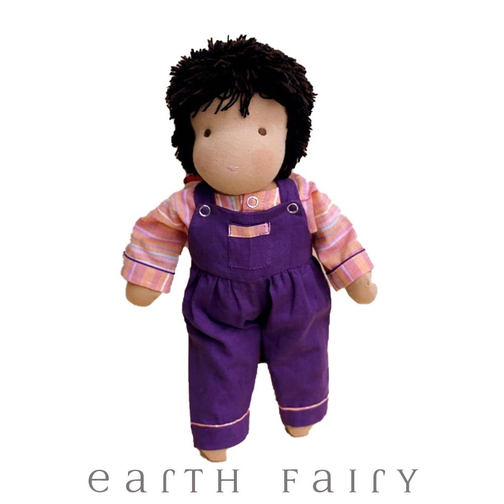 Black Hair & Brown Eyes - Steiner Waldorf Boy Doll