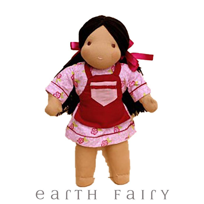 Black Hair & Brown Eyes - Waldorf Steiner Girl Doll from The Waldorf Steiner Doll Collection by Earth Fairy