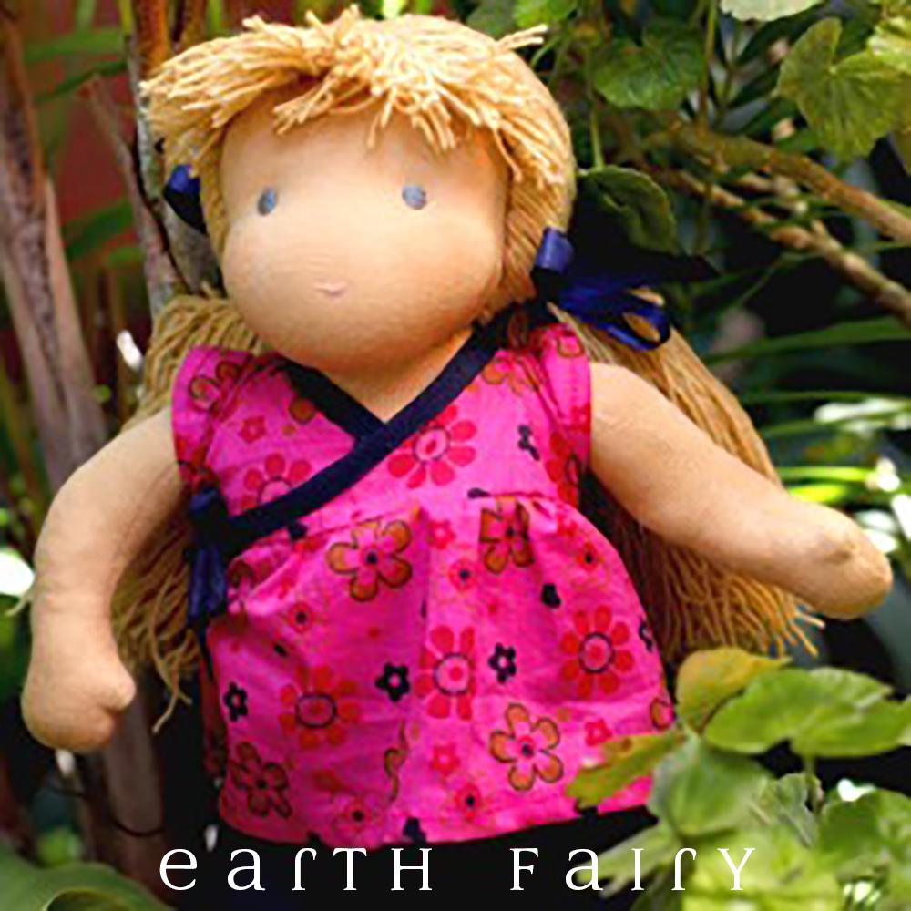 Waldorf Steiner Girl Doll - Blonde Hair & Blue Eyes, from The Waldorf Steiner Doll Collection by Earth Fairy