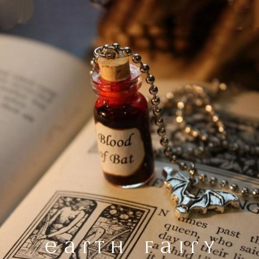 Bat Blood Necklace from The Witchy Things Collection by Earth Fairy