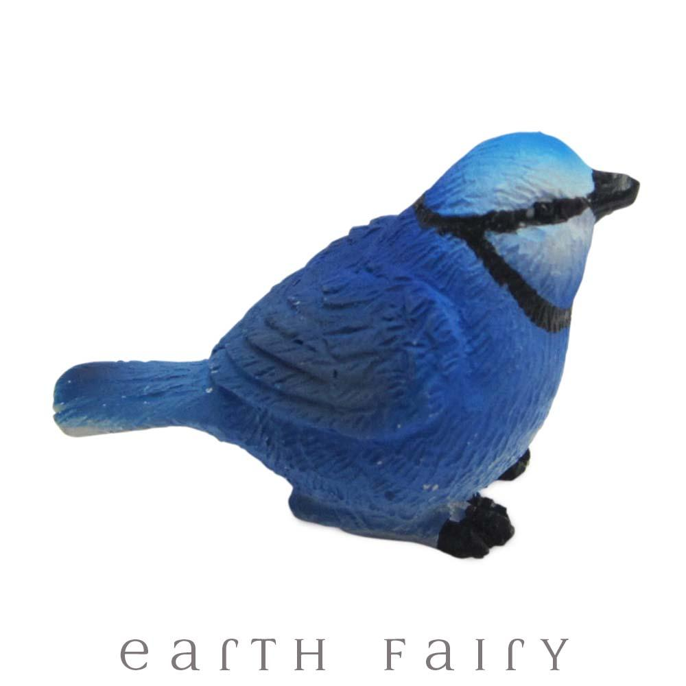 Blue Wren from The Fairy Garden Miniature Bird Collection by Earth Fairy