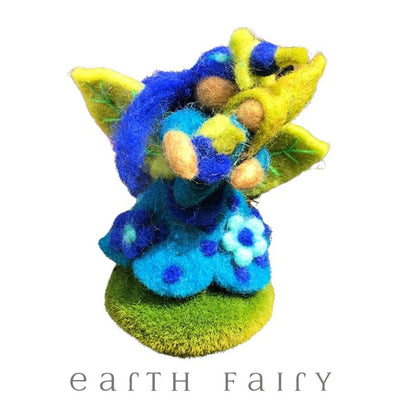 Blueberry Faerymother, Small, from The Hand Felted Wool Toy Collection by Earth Fairy