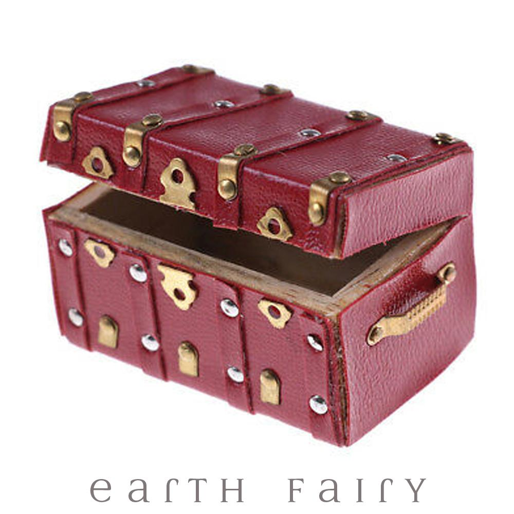 Miniature Brass & Leather Chest, from The Fairy Garden Accessory Collection by Earth Fairy
