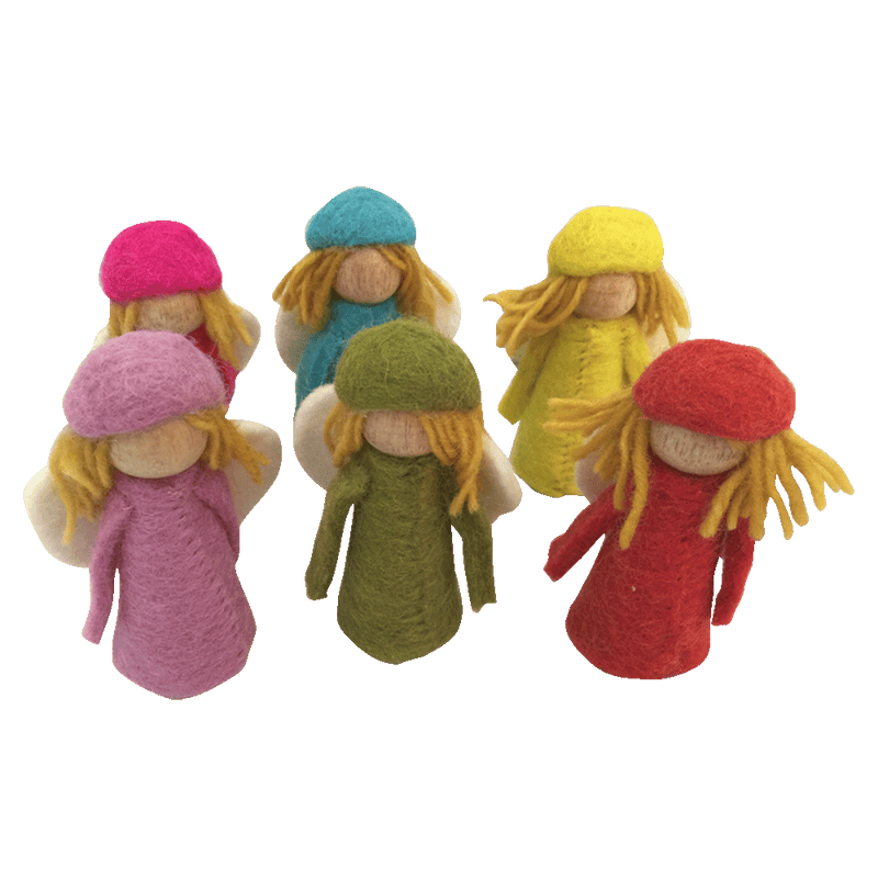 Bright Elves - Set of 6  - Fairy Play - Earth Fairy