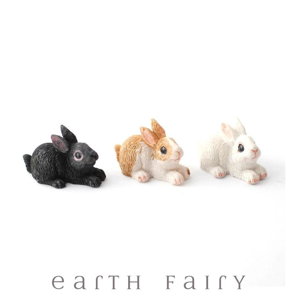 Bunny Rabbits - Set of 12 | Fairy Garden Animals - Australia | Earth Fairy