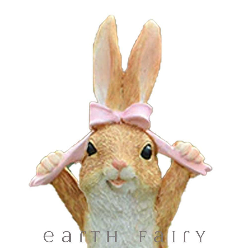 Bunny with a  Bow from The Fairy Garden Miniature Animal Collection by Earth Fairy