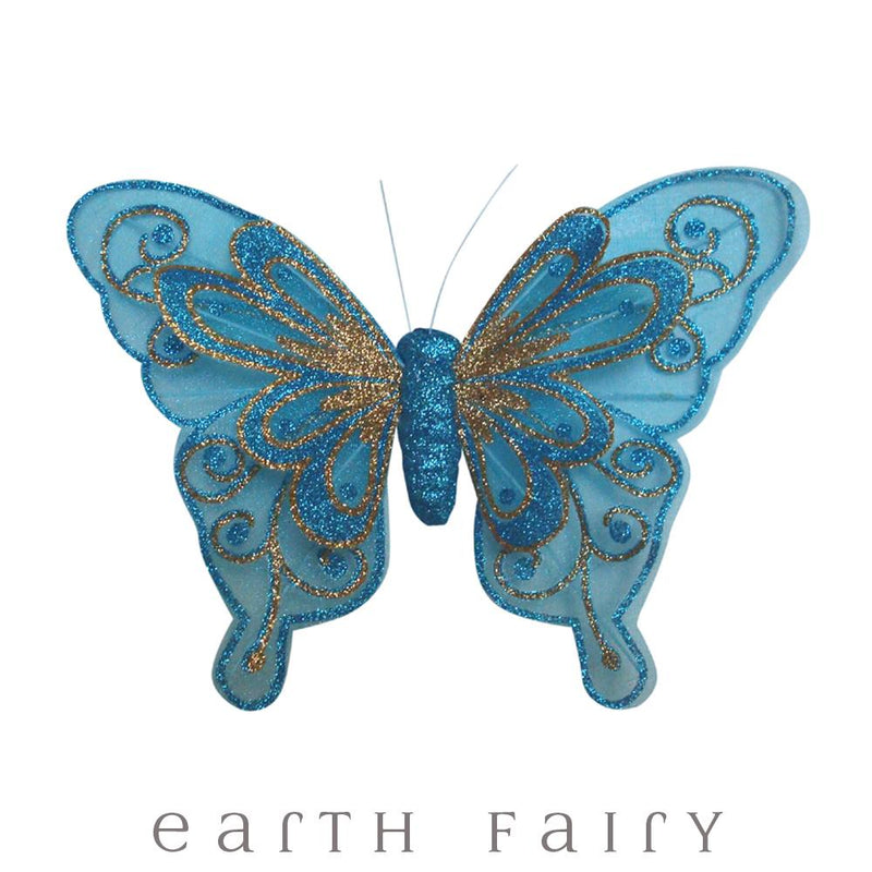 Butterfly Wings with Clip - 20cm - Set of 3 | Fairy Room Accents | Earth Fairy