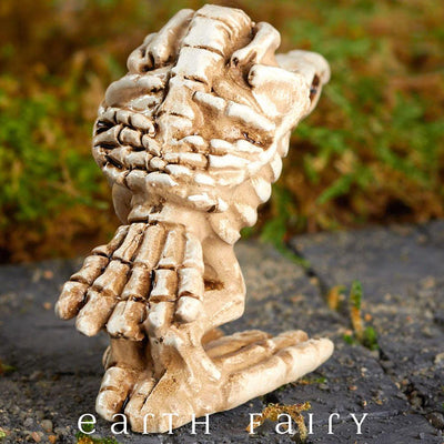 Miniature Buzzard Skeleton Figurine, rear view,  from The Fairy Garden Miniature Halloween Collection by Earth Fairy