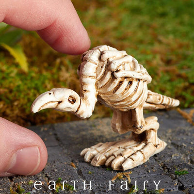 Miniature Buzzard Skeleton Figurine from The Fairy Garden Miniature Halloween Collection by Earth Fairy