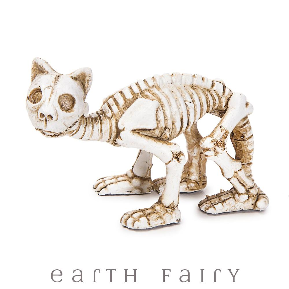 Cat Skeleton Miniature Figurine, from The Miniature Halloween Collection by Earth Fairy