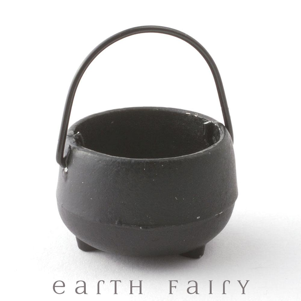 Miniature Black Metal Cauldron | Miniatures & Fairy Gardens | Earth Fairy