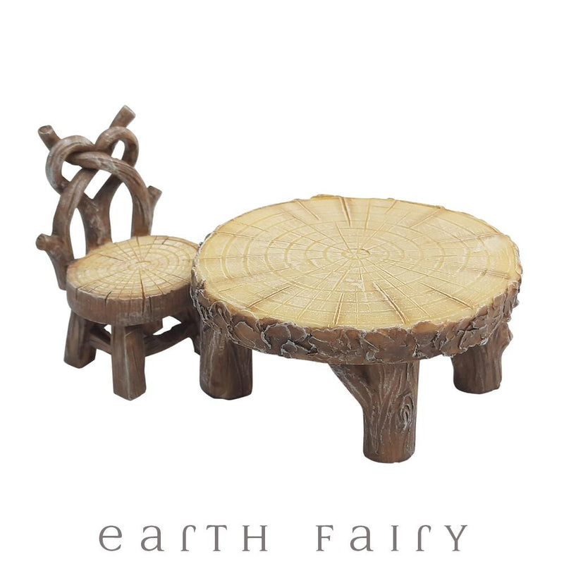 Rustic Furniture Set from The Miniature Fairy Garden Furniture Collection by Earth Fairy