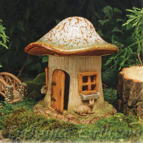 Ceramic Mushroom House  - Fairy Houses - Earth Fairy