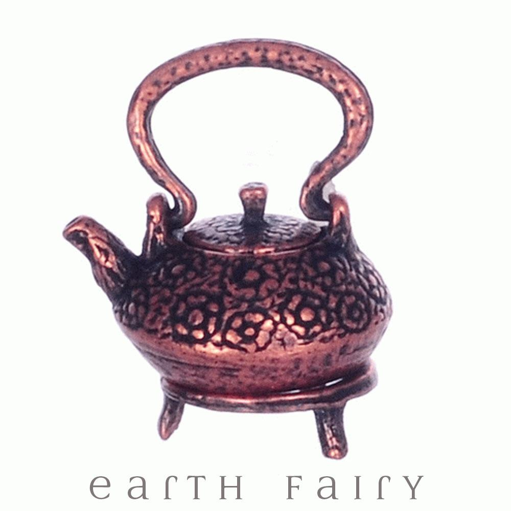 Copper Kettle Pot with Trivet | Fairy Garden Miniatures - Australia | Earth Fairy