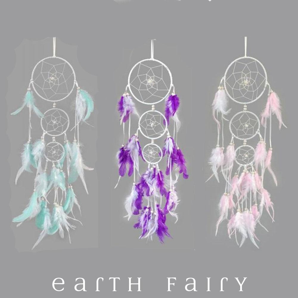 Crochet Dream Catcher - 50cm | Fairy Room Accents | Earth Fairy