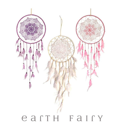 Crochet Dream Catcher - 70cm | Fairy Inspired Gifts & Decor - Australia | Earth Fairy