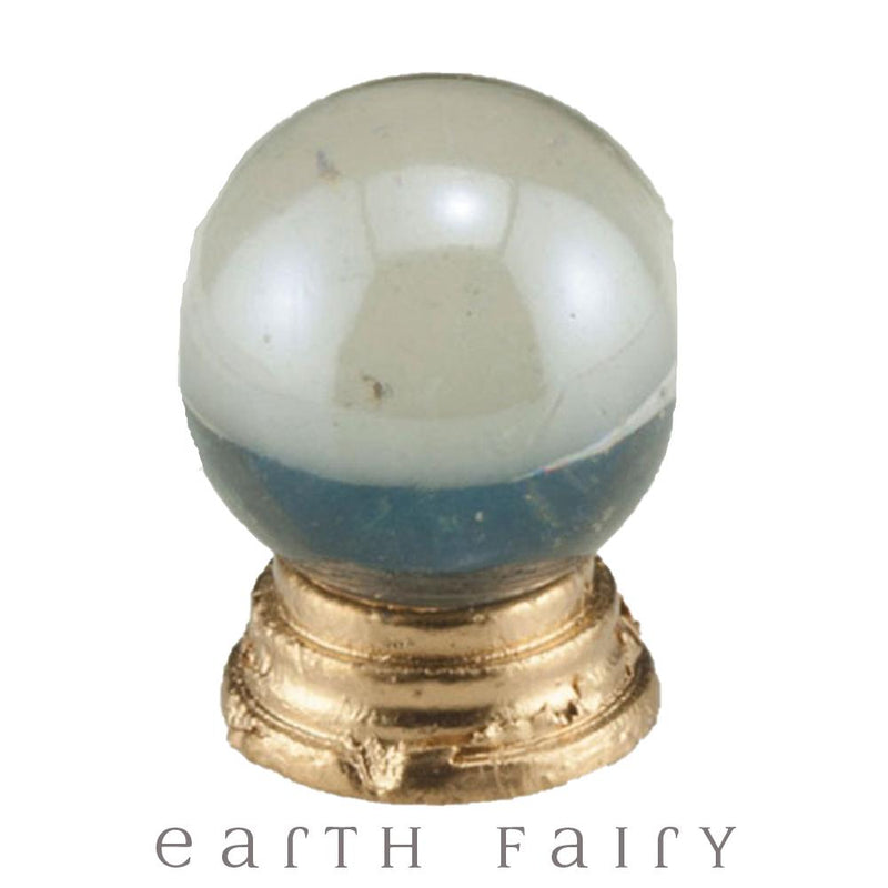 Crystal Ball with Gold Stand, from The Miniature Fairy Garden Accessory Collection by Earth Fairy