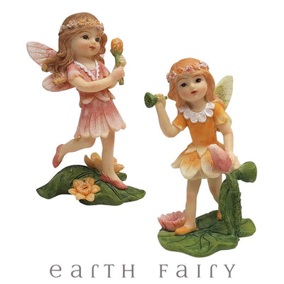Dancing Flower Garden Fairies, from The Miniature Flower Garden Fairy Collection by Earth Fairy