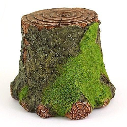 Decorative Mossy Tree Stump Display  - Fairy Gardens - Earth Fairy