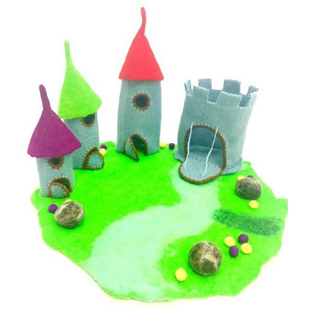 The Dragon Castle, Large, from The Hand Felted Wool Toy Collection by Earth Fairy