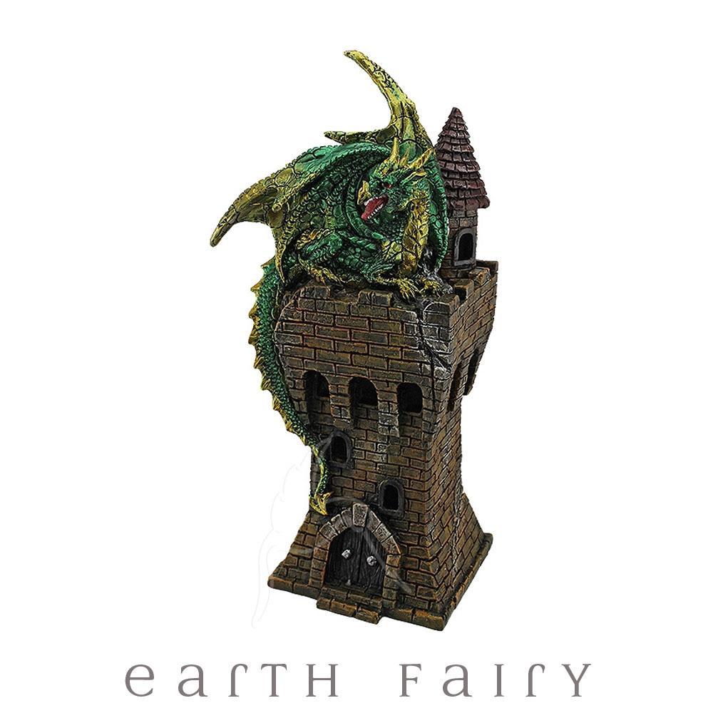Dragon on a Tower - Green | Dragons & Fantasy Giftware | Earth Fairy
