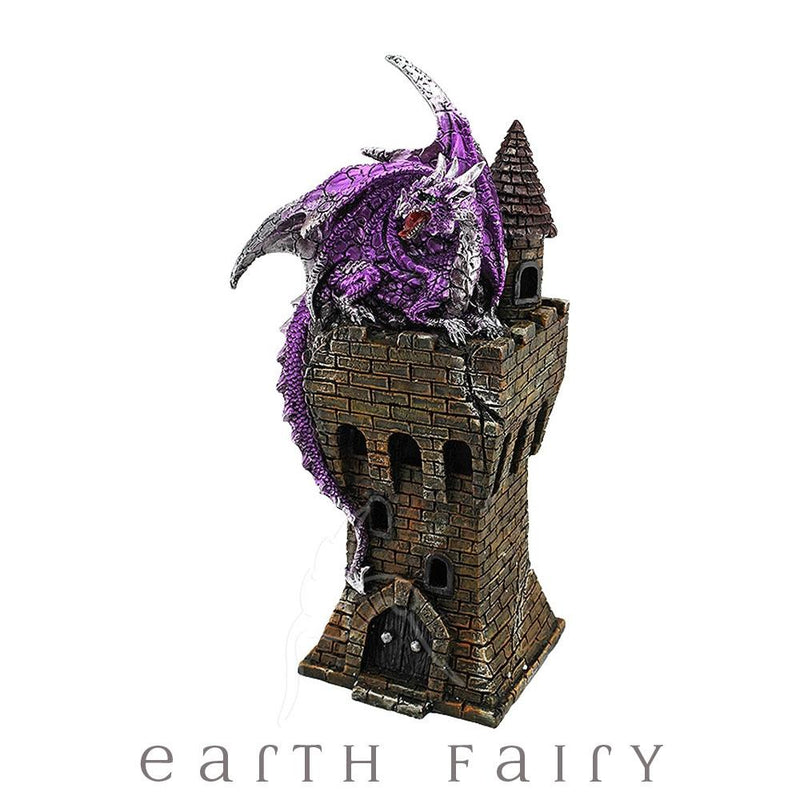 Dragon on a Tower - Purple | Dragons & Fantasy Giftware | Earth Fairy