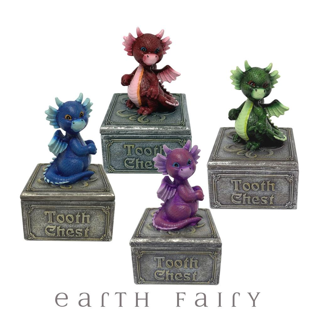 Dragon Tooth Chest | Fairy Garden Miniatures & Collectibles - Australia | Earth Fairy