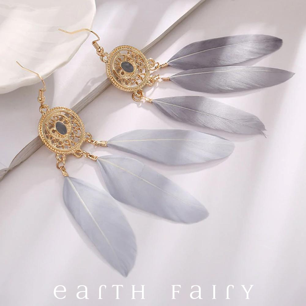 Dream Catcher Earrings, Silver Moon, from The Dream Catcher Jewellery Collection by Earth Fairy