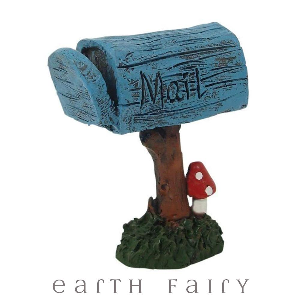 Enchanted Garden Little Blue Mail Box - Mini | Fairy Garden Accessories | Earth Fairy