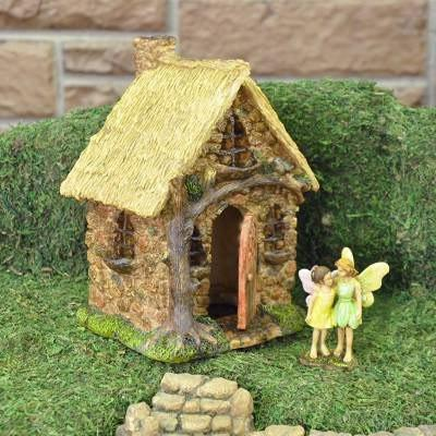 English Tree Cottage  - Fairy Houses - Earth Fairy