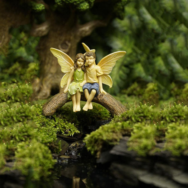 Fairies on Friendship Bridge | Fairy Garden Figurines - Australia | Earth Fairy