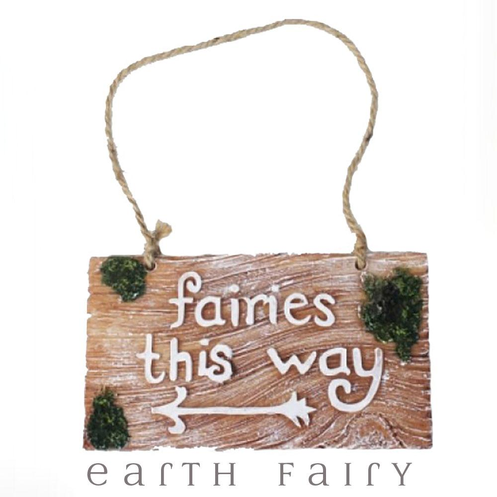 Fairies This Way Garden Plaque from The Fairy Inspired Gift Collection by Earth Fair