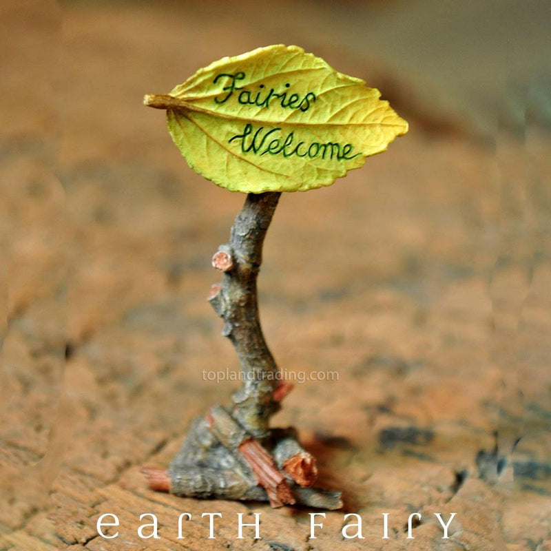 'Fairies Welcome' Sign | Fairy Gardens & Miniature Collectibles | Earth Fairy