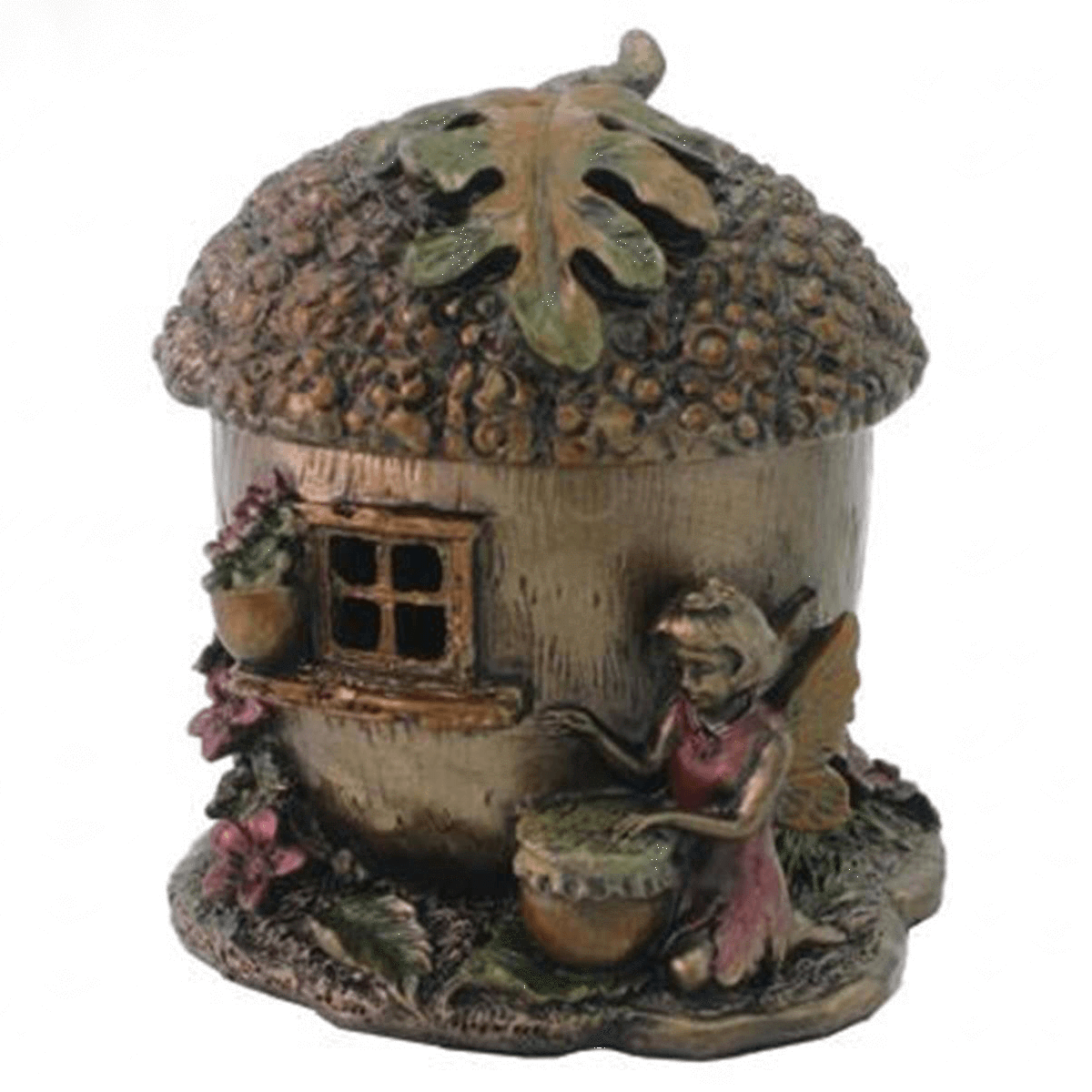 Room Accents Fairy Acorn House - Trinket Box Earth Fairy