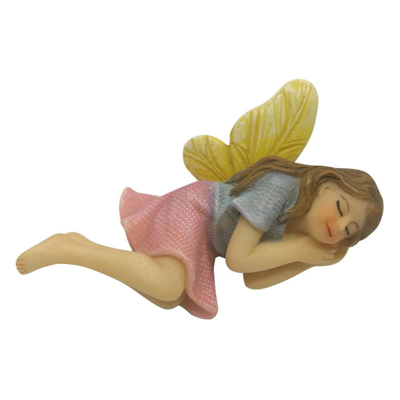 Fairy Aurora Sleeping - Lavender and Yellow | Fairy Garden Figurines - Australia | Earth Fairy